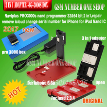 IP NAVI PLUS pro3000S box chip programmer+Non-removal 3 in 1 adapter for ipad 2 3 4 32 & 64bit change SN bypass iCloud