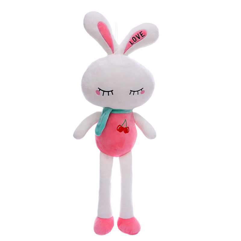 Stuffed Pink Smiling Rabbit Toys Plush Closing Eye Dolls Gift for Kids Bunny Toy Christmas Gifts for Girls Boys 26*9<br><br>Aliexpress