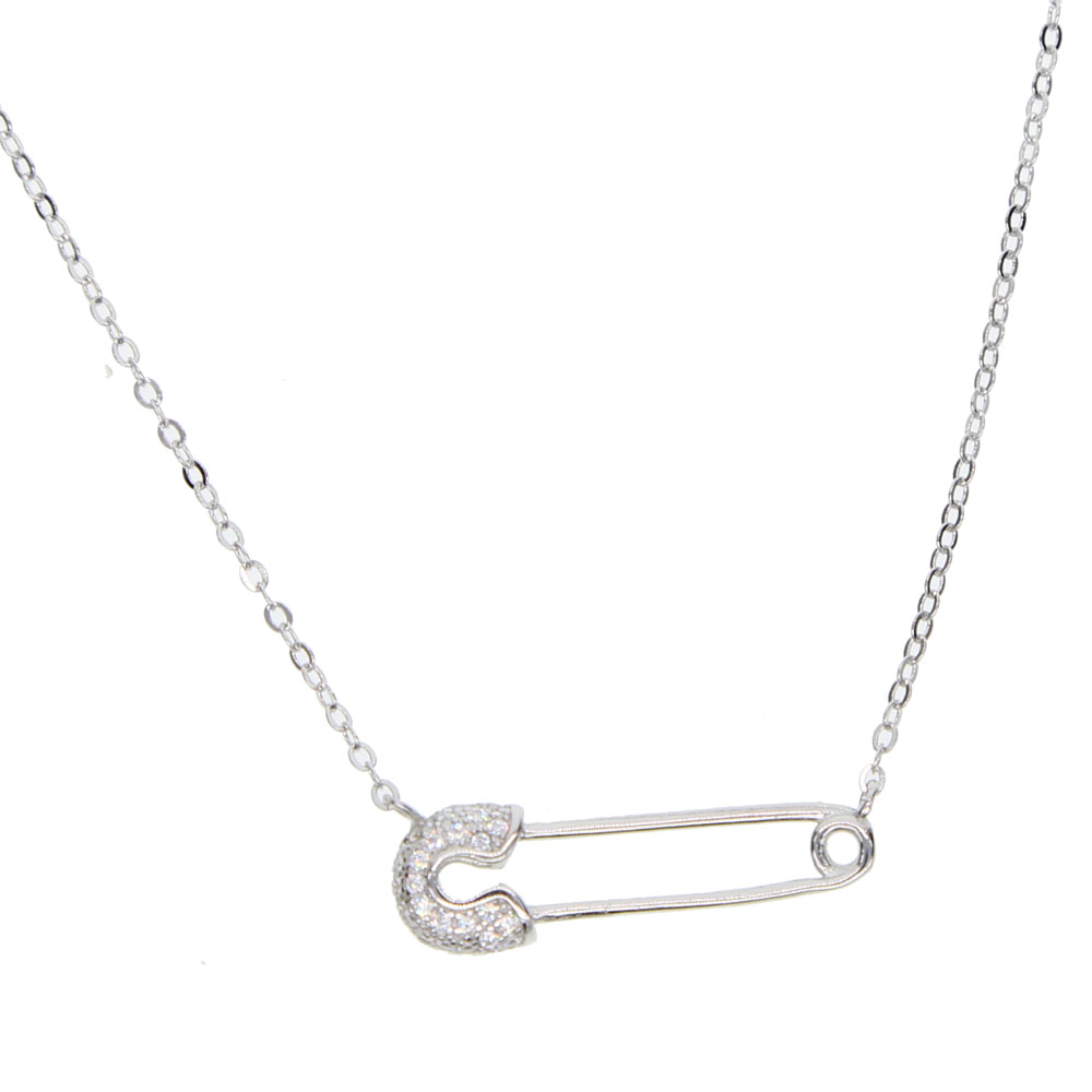 2018-Delicate-925-sterling-silver-drop-shipping-charm-dainty-paper-clip-paved-small-cz-stone-necklace (2)