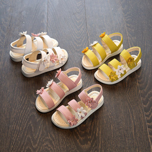 girl sandals girls shoes summer party toddler princess wedding shoe leather children size 21-35 kids for 2~15 year fashion KK32
