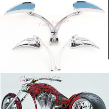 Free Shipping Chrome Mini Teardrop Custom Side Mirrors For Motorcycle Street Sport Bike Cruiser Chopper(China)