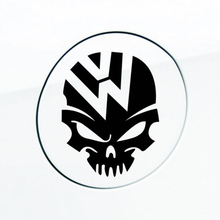 1pc Cool logo Reflective Car Skull Tank Decal Sticker for Volkswagen VW Fusca Beetle Polo Tiguan Golf CC Touareg Passat Scirocco(China)