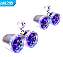 Reborn wakeboard tower speaker with blue LED light ring (4 speakers)