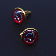 Factory Retail NBA Toronto Raptors Basketball Man Shirt Cufflinks for Party cuff-link(China)