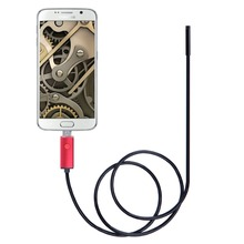 5.5mm 2M IP67 Waterproof Endoscope USB Camera Borescope Photo Capture Inspection Scope 6 White LEDs Tube for Android Phone PC