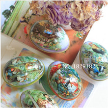 New Easter Day EggS 8 pcs 6.3x4.4x5cm Different Design Fashion Wedding Supplies Candy Packaging Candy Box Tin trumpet