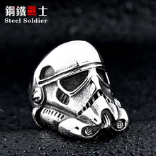 steel soldier new design stormtrooper men personality ring movie style star wars fashion stainless steel jewelry(China)