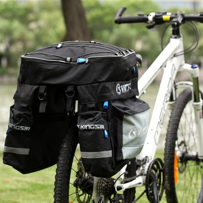 1x Large Volume Bicycle Luggage Carrier Bike Rear Rack Luggage Container Bag with Fixed Belt and Rainproof Cover free shipping<br><br>Aliexpress