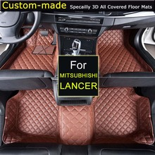 Car Floor Mats for Mitsubishi Lancer 2007~ Customized Foot Rugs 3D Auto Carpets Custom-made Specially