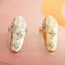 wholesale dazzling rhinestone individual fashion crystal nails Rings
