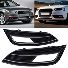 1 Pair Car Front Bumper Fog Lights Hood Lower Grill Grille Cover For Audi A4 B8 2012-2015 Car Styling Right Left Side Grilles