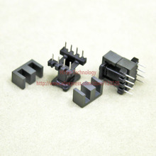 20sets/lot EE10 PC40 Ferrite Magnetic Core and 4 Pins + 4 Pins Top Entry Plastic Bobbin Customize Voltage Transformer