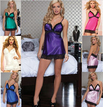 Sexy Pajamas Babydoll Dress New Erotic Lingerie Underwear Net Sleepwear Women Teddies Gift Negligee costumes