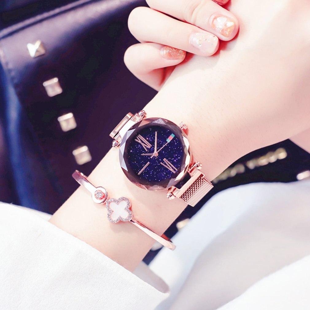Luxury Brand Waterproof Flash Star Wrist Watches For Women 7