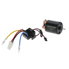 GoolRC 540 55T 4 Poles Brushed Motor and WP-1060-RTR 60A Waterproof Brushed ESC Speed Controller with 5V/2A BEC for 1/10 RC Car