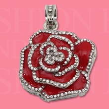 Jewelry Red Rose Necklace Style Pen Drive 64GB Usb Flash Drive 32GB 128GB Pendrive 16GB Pendrives Computer Memory Stick 2.0 Gift