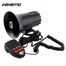 Vehemo High quality New 12V Loud Horn 7 Sounds Car Auto Motorcycle Speaker System Truck Siren Horn For Cop Police Constable(China)