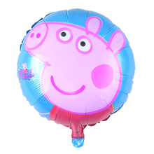 George Mum Daddy Pig Pink Balloon, Pippa Pig Baby Birthday Balloon Toys Foil Globo Party Decoration