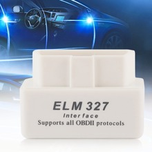 OUTAD MINI ELM327 Car Auto Interface Scanner Bluetooth OBD2 V2.1 White Smart Car Diagnostic Interface ELM 327 Wireless Scan Tool(China)