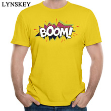 Buy LYNSKEY 2017 New BOOM 100% Cotton Men's T Shirts Yellow Unique Summer Tops Tees Newest O-Neck Boys Cool Clothing 10 Colors for $12.68 in AliExpress store