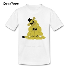 Golden Freddy Five Nights At Freddy's children's Toddler Boy Girl 2017 T-shirt Round Neck Kid Clothes T Shirt Infant Tshirt