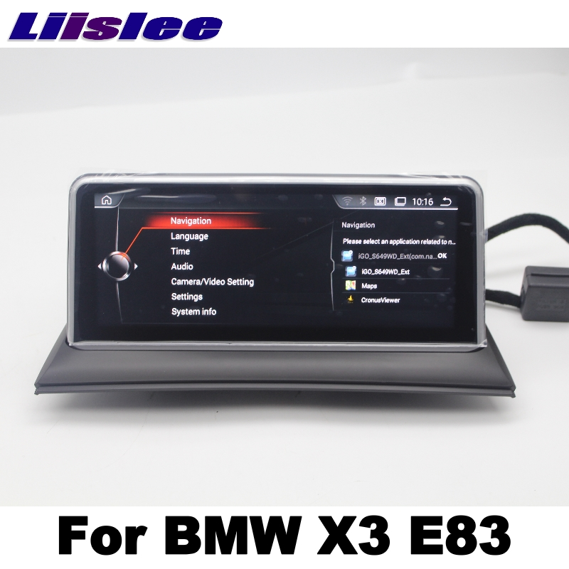 LiisLee For BMW X3 E83 2003~2010 Car Multimedia GPS Map 10.25Android Audio Hi-Fi Radio Stereo Original Style Navigation NAVI 7