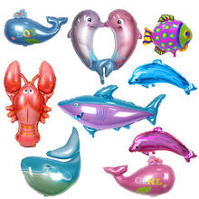 Sea World Shark Fish Foil Balloons Children Classic Toys Whale Inflatable Dolphin Helium Balloon Wedding Birthday Party Supplies(China)