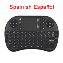 Spanish Keyboard 2.4GHz Wireless Mini Keyboard Air Mouse Touchpad for Android TV BOX Orange Pi Raspberry Pi 3 Espanol teclado