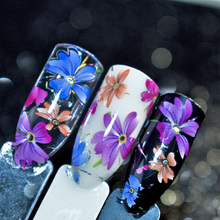 1pc Spring Flowers Garden Nail Foils Starry Sky Foils Nail Art Transfer Foil Sticker Paper Nail Wraps DIY Nail Foil Accessories(China)