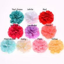 10PCS Chiffon Ruffles Flower Hair Accessories s Artificial Flowers for Decoration Hair Flower No Hair clips(China)
