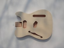 DIY Guitar parts top grade unfinished electric guitar body , flamed maple covered guitar body