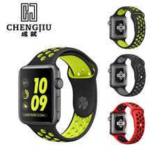 42MM 38MM Watchband For Apple Watch Band Bracelet Sport Silicone Strap Brand Watch Strap 1:1 Original Men Women Watch Strap
