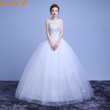 Crystal Beads Rhinestones Luxurious Bling Wedding dresses Bridal Ball Gown Sequin Tulle Wedding Gowns Buy Direct From China
