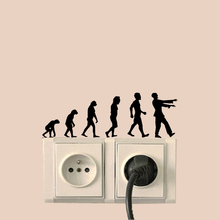 Evolution Zombie Vinyl Wall Sticker Home Decor Light Switch Decal 6SS0177