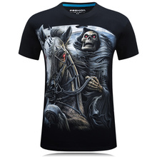 Buy 2017 Summer New 21 styles Mens 3D Skull Cotton T Shirts Fashion Brand T Shirt Men Hip Hop Casual Tees large size S-6XL Fitness for $7.99 in AliExpress store