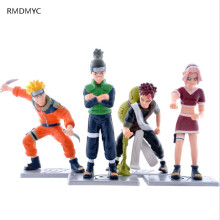 RMDMYC 1PC 8CM Japanece Anime Naruto Action Figures Cute Sakura Gaara  Nara Shikamaru Kits  for Children Brithday Gifts
