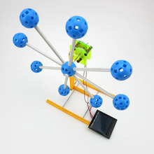 Solar Power Novelty Kit Ferris Wheel Building Model 4WD Smart Robot Car Chassis Small RC Toy