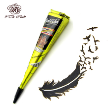 GOLECHA Black Henna Tattoo Paste Cones,Indian Mehndi Henna Tattoo Tatoo Paste Black Colored Cream For Body Paint 25g