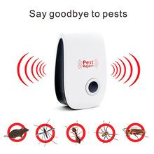 Mosquito Killer Electronic Ultrasonic Repels Rat Mouse Ant Roaches Spider Reject Insects Control Non-toxic Pest Repeller Hogard(China)
