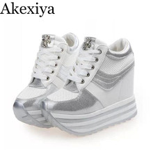 Akexiya Woman Shoes High Heels Platform Casual Free shipping of Wedge Casual Shoes Fitness Shoes 2017 New Fashion Casual Shoes
