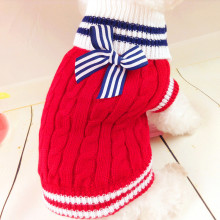 Cute Pet Dog Clothes Winter Warm Clothes Puppy Sweater Knitwear Soft Costume Navy Style Clothing for Dog Roupas de Perro 15S2