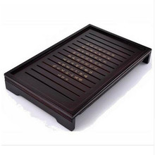 Drinkware Hot Sale Kung Fu Tea Set Natural Solid Wooden Tea Tray Rectangular Wood Traditional Puer Tea Tray Big Size