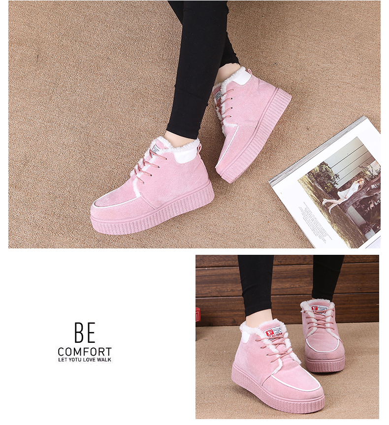 Winter Boots Women Snow Boots Ankle Boots For Women Warm Shoes Woman Fur Suede Boots ladies Creeper Botas Mujer Feminina