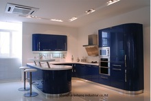 High gloss/lacquer kitchen cabinet mordern(LH-LA046)