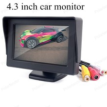 4.3 inch TFT Color digital Fold-able lcd car monitor small display for vehicle reversing parking backup rear view camera sale