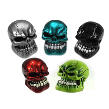 Car Accessories red blue Green Silver Black Resin Wicked Carved Skull Universal Car Manual Gear Stick Shifter Knob Shift Lever