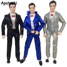 1SET Doll Clothes For Ken Doll Male Business Wedding Suit For Barbie's Boy Firend Ken Doll Accessories Kids Toy(China)