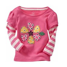Spring Cotton Kids Girls T Shirt Soft Long Sleeve Printed Shirts Infant Baby Blouse Tees T-shirt 0-6T