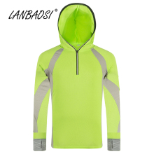 LANBAOSI Men's Long Sleeve Fishing Hoodies Shirts Clothes Summer Sun UV Protection Quick Dry Breathable Tourism Jacket Clothing