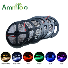 DC 12V Led Strip Light 5M 60Leds/M SMD5050 SMD3528 / 5630 / 2835 / 3014 RGB Lights Flexible Neons Lamp for Cabinet TV background